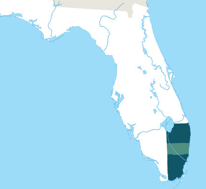 Map of areas ABL serves in Florida