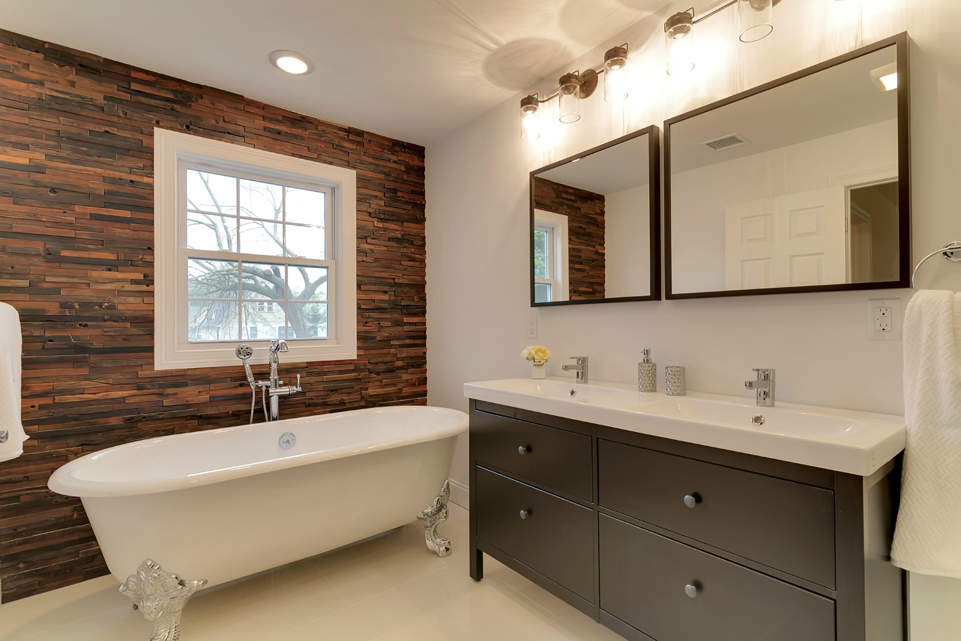 Master bathroom after private loan renovations