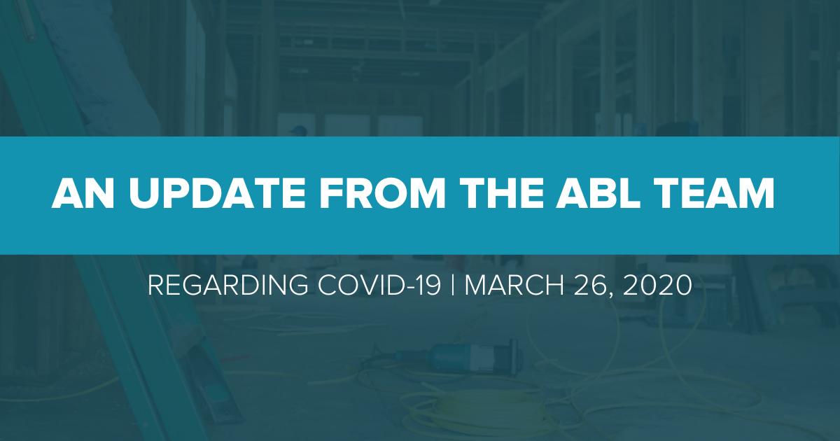 ABL coronavirus update