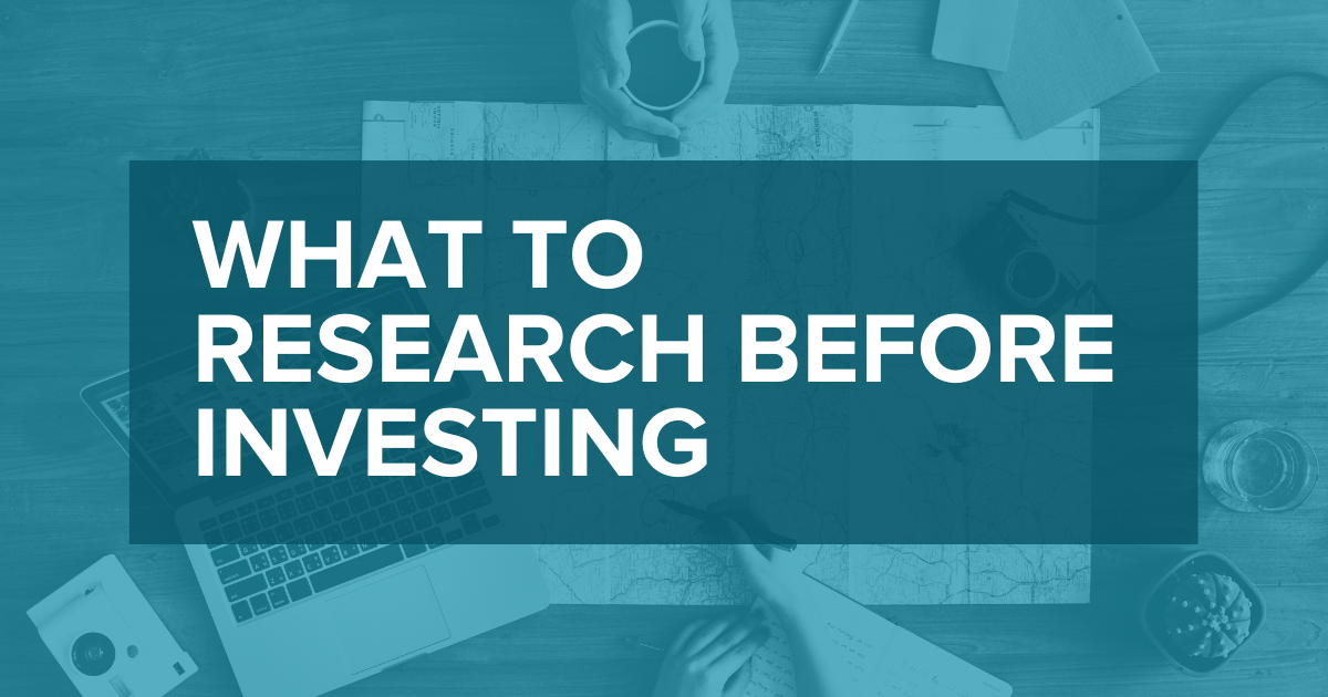 what to research before investing